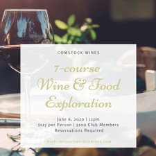 7 Course Food & Wine Exploration August
